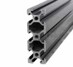 Aluminium profile V-SLOT 2060 - Anodized black 1000mm
