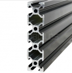 Aluminium profile V-SLOT 2080 - Anodized black 250mm