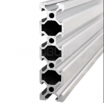Aluminium profile V-SLOT 2080 - Anodized silver 250mm