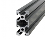 Aluminium profile V-SLOT 2040 - Anodized black 1000mm