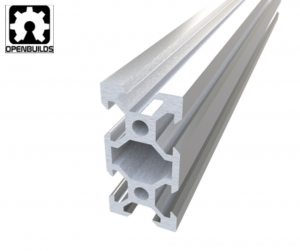 Aluminum profile V-SLOT 2040 - Anodized silver 3000mm