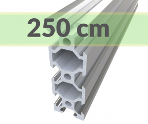 Aluminum profile V-SLOT 2060 - Anodized silver 2500mm
