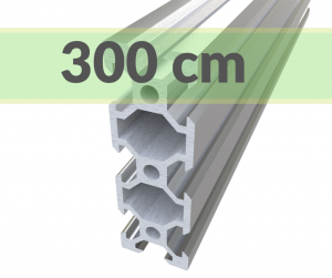 Aluminum profile V-SLOT 2060 - Anodized silver(3000mm)