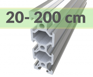 Aluminum profile V-SLOT 2060 - Anodized silver ( cut-to-size)