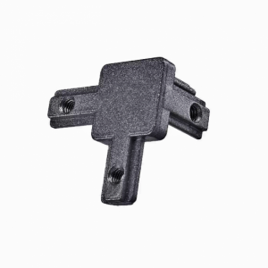 Inside Hidden Three Way Corner Bracket - Black - For 3030