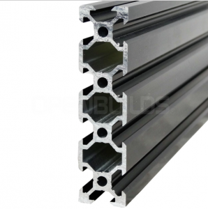 Aluminum profile V-SLOT 2080 - Anodized black ( cut-to-size)