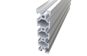 Aluminum profile V-SLOT 2080 - Anodized silver ( cut-to-size)
