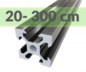 Aluminium Profile 2020 Black( cut-to-size)