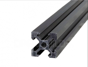 Aluminium profile 2020 V-SLOT - Black Anodized 1000mm