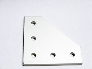 90 Degree Joining Plate Silver